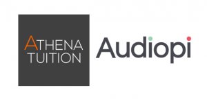 Athena Tuition and Audiopi logos